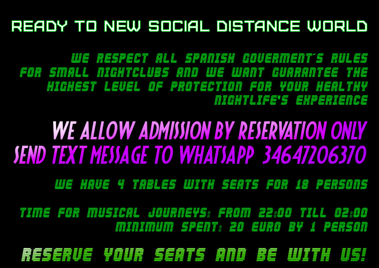 READY TO NEW SOCIAL DISTANCE WORLD